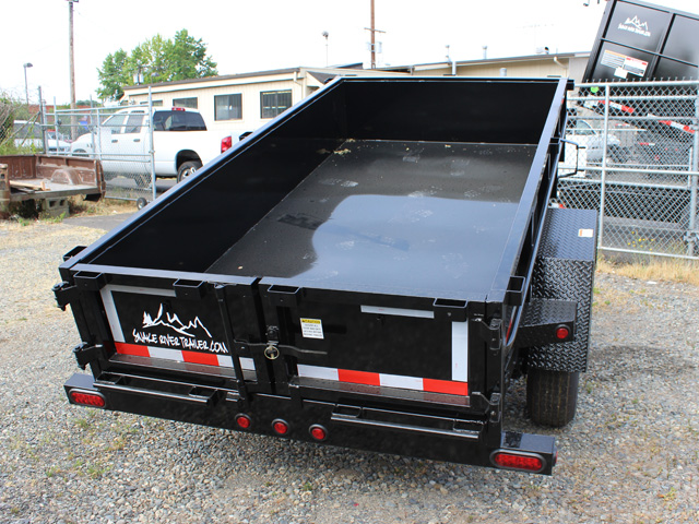 DMP5X10.C. 2015 SNAKE RIVER 5 x 10 ft. Single Axle Dump Trailer from Town and Country Commercial Truck Sales, Kent (Seattle), WA