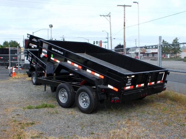 DMP6X12ECON.B. 2015 SNAKE RIVER 6 x 12 ft. Dump Trailer from Town and Country Commercial Truck Sales, Kent (Seattle), WA