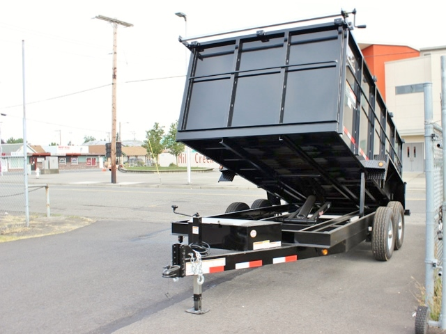 14X48X14K.B. 2015 SNAKE RIVER 48 in. Tall Sided Dump Trailer from Town and Country Commercial Truck Sales, Kent (Seattle), WA