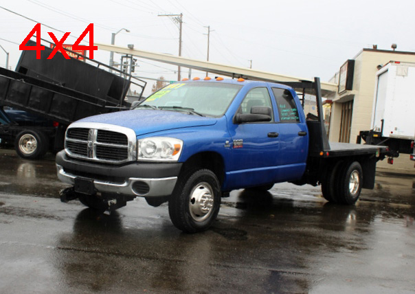 2007 DODGE RAM 3500 4 Door 4x4 Crewcab 1 Ton Flatbed Truck #5914. Scroll down to find a video of this truck.