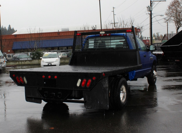 5914.G. 2007 DODGE RAM 3500 4 Door 4×4 Crewcab 1 Ton Flatbed Truck from Town and Country Commercial Truck Sales, Kent (Seattle), WA