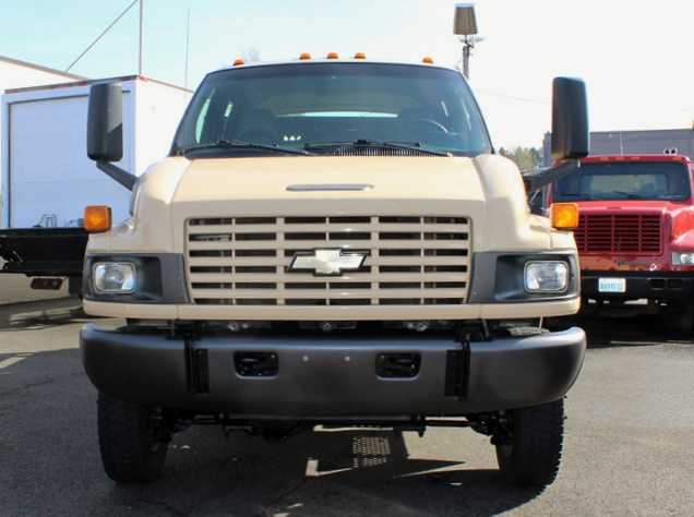 5949.C. 2006 CHEVROLET C4500 4X4 Crewcab Stakeside Flatbed Truck from Town and Country Commercial Truck Sales, Kent (Seattle), WA