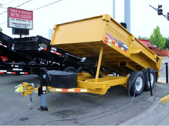 NEW 2016 VERSADUMP 82 IN X 12 FT. Dump Trailer #5854.B from Town and Country Commercial Truck and Trailer, Kent (Seattle) WA