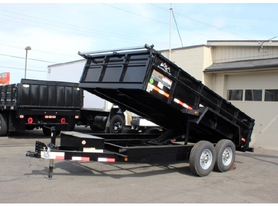 2016 SNAKE RIVER 26 in. Tall Sided Dump Trailer #5901 from Town and Country Commercial Truck Sales, Kent (Seattle), WA