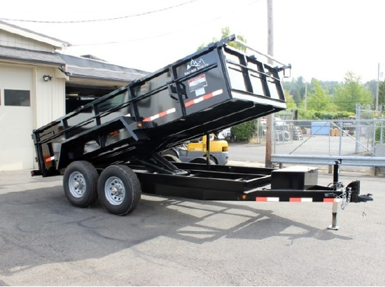 DMP14X26.14K.B. 2015 SNAKE RIVER 26 in. Tall Sided Dump Trailer from Town and Country Commercial Truck Sales, Kent (Seattle), WA