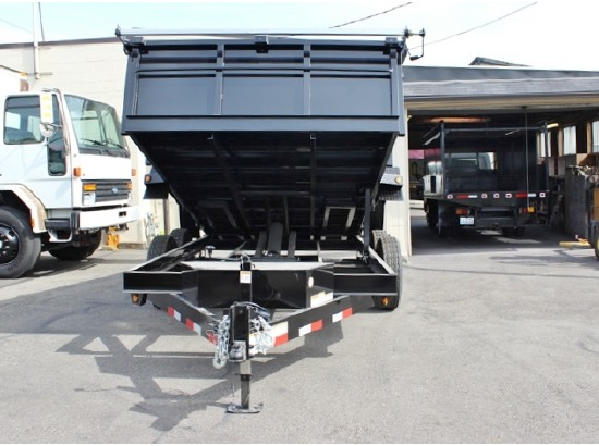 DMP14X26.14K.E. 2015 SNAKE RIVER 26 in. Tall Sided Dump Trailer from Town and Country Commercial Truck Sales, Kent (Seattle), WA