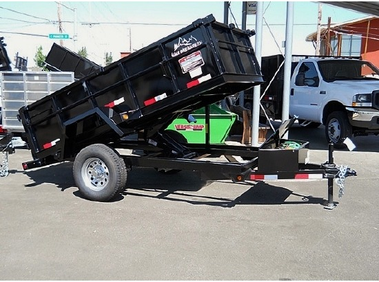 2012 SNAKE RIVER 5 ft. x 10 ft. Dump Trailer #5778 from Town and Country Commercial Truck Sale, Kent, WA