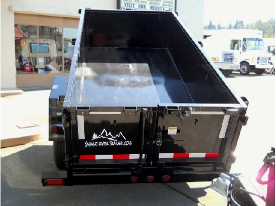 DMP5X8.B. 2015 SNAKE RIVER 5 ft. x 10 ft. Dump Trailer from Town and Country Commercial Truck Sales, Kent (Seattle), WA
