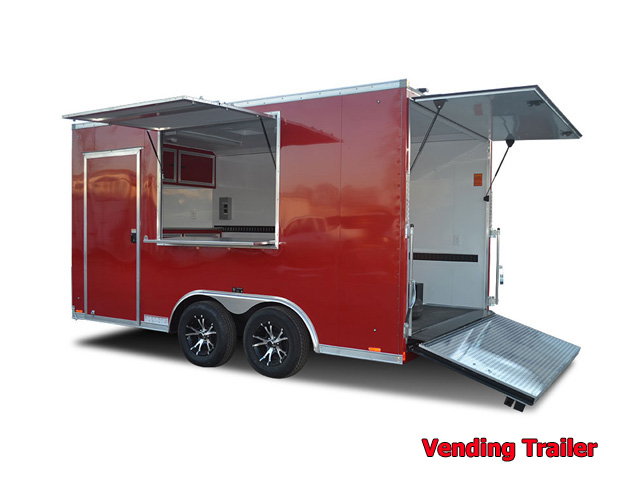 V.A. Vending trailers from Town and Country Truck and Trailer, Kent (Seattle) WA, selling utility trailers, dump trailers, equipment trailers, flatbed trailers, vending trailers, construction trailers, office trailers and gooseneck trailers