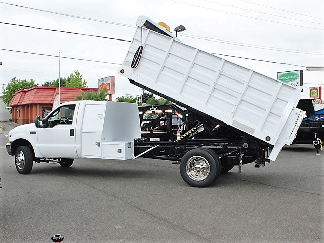 6028.B. 2004 FORD F450 Super Duty 12 Ft. Solid Steel Landscape Dump Truck from Town and Country Commercial Truck and Trailer Sales, Kent (Seattle), WA