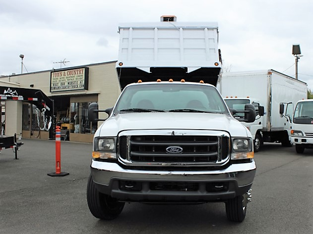 6028.F. 2004 FORD F450 Super Duty 12 Ft. Solid Steel Landscape Dump Truck from Town and Country Commercial Truck and Trailer Sales, Kent (Seattle), WA