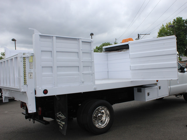 6028.O. 2004 FORD F450 Super Duty 12 Ft. Solid Steel Landscape Dump Truck from Town and Country Commercial Truck and Trailer Sales, Kent (Seattle), WA
