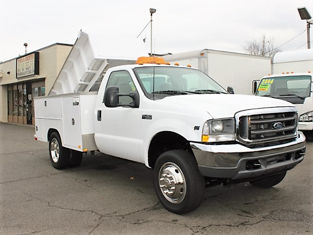 6092.D. 2002 FORD F450 Super duty 9 ft. Utility Dump Truck from Town and Country Commercial Truck and Trailer Sales, Kent (Seattle), WA