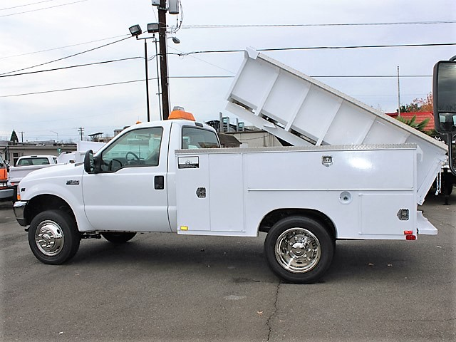 6092.I. 2002 FORD F450 Super duty 9 ft. Utility Dump Truck from Town and Country Commercial Truck and Trailer Sales, Kent (Seattle), WA