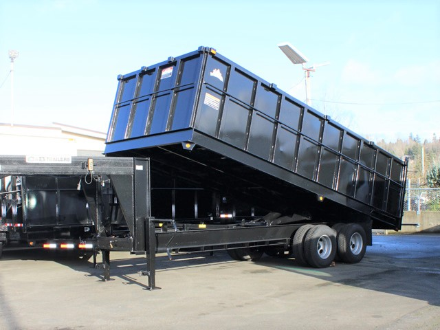 6090.C. 2006 C&B Gooseneck 20 ft. tall-sided dump trailer from Town and Country Commercial Truck and Trailer Sales, Kent (Seattle), WA