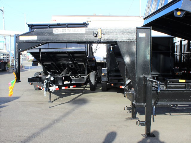 6090.D. 2006 C&B Gooseneck 20 ft. tall-sided dump trailer from Town and Country Commercial Truck and Trailer Sales, Kent (Seattle), WA