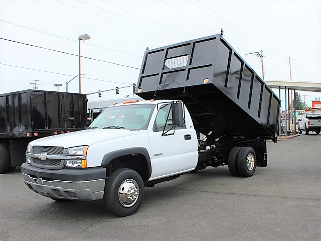 #6069: 2003 CHEVROLET C3500 SILVERADO 12 ft. Flatbed Dump Truck from Town and Country Truck and Trailer, Kent (Seattle) WA