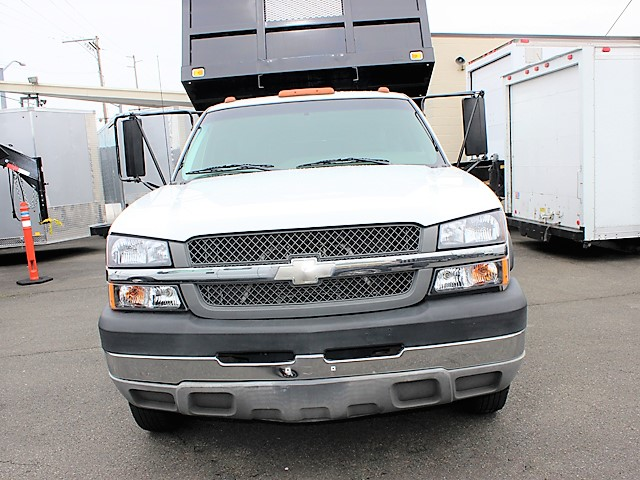 6069.D. 2003 Chevrolet C3500 Silverado Non-CDL 12 ft. flatbed dump truck from Town and Country Commercial Truck and Trailer Sales, Kent (Seattle), WA