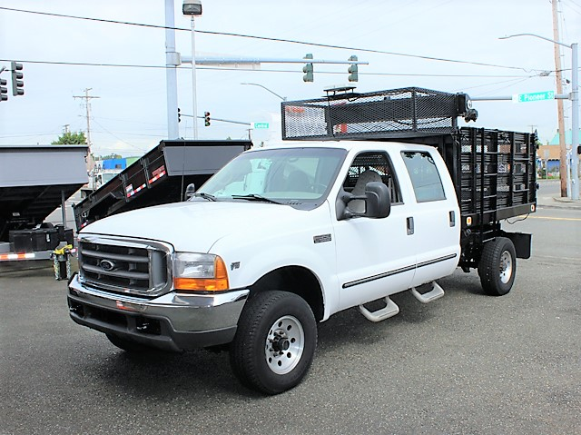6129.B. 1999 Ford F350 8 ft. landscape truck from Town and Country Commercial Truck and Trailer Sales, Kent (Seattle), WA