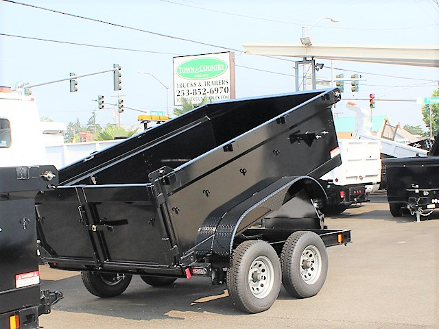 IN6FT.J. 2018 Innovative 6 ft. x 10 ft. x 30 in. tall sided dump trailer from Town and Country Commercial Truck and Trailer Sales, Kent (Seattle), WA