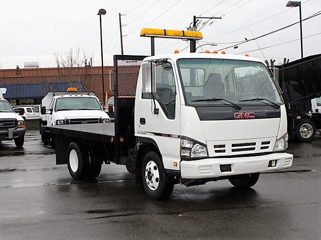 6183. 2006 GMC/Isuzu W4500 12 ft. flatbed truck from Town and Country Commercial Truck and Trailer Sales, Kent (Seattle), WA