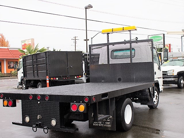 6183.F. 2006 GMC/Isuzu W4500 12 ft. flatbed truck from Town and Country Commercial Truck and Trailer Sales, Kent (Seattle), WA