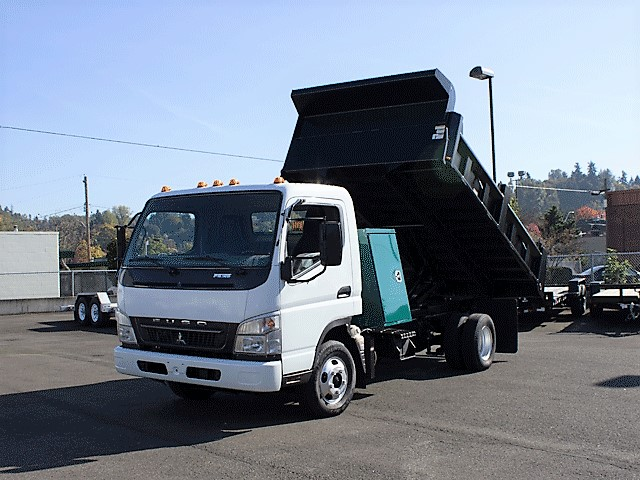 2008 Mitsubishi Fuso FE125 12 ft. dump truck from Town and Country Commercial Truck and Trailer Sales, Kent (Seattle), WA
