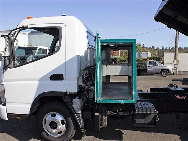 6288.F. 2008 Mitsubishi Fuso FE125 12 ft. dump truck from Town and Country Commercial Truck and Trailer Sales, Kent (Seattle), WA