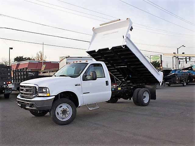 2002 Ford F450 Superduty 11ft. dump truck from Town and Country Commercial Truck and Trailer Sales, Kent (Seattle), WA.