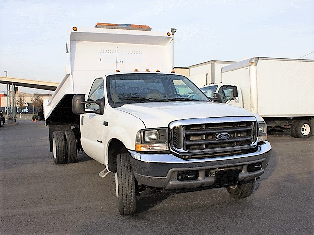 6299.D. 2002 Ford F450 Superduty 11ft. dump truck from Town and Country Commercial Truck and Trailer Sales, Kent (Seattle), WA.
