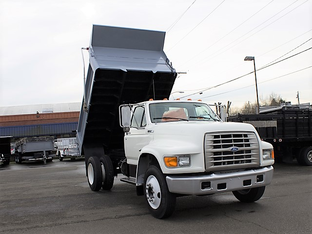 1996 FORD F650 5 yard dump truck from Town and Country Commercial Truck and Trailer Sales, Kent (Seattle), WA.