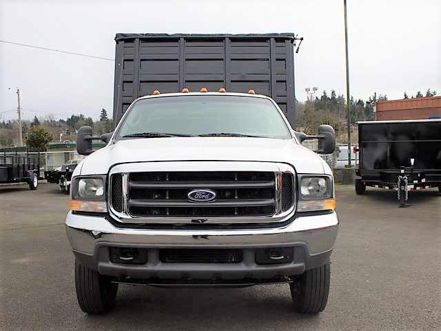 6035.B. 2004 FORD F450 Super Duty 12 ft. landscape dump truck from Town and Country Commercial Truck and Trailer Sales, Kent (Seattle), WA.