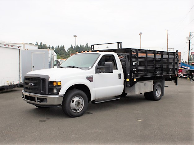 2008 FORD F350 Super Duty 12 ft. flatbed truck from Town and Country Commercial Truck and Trailer Sales, Kent (Seattle), WA.