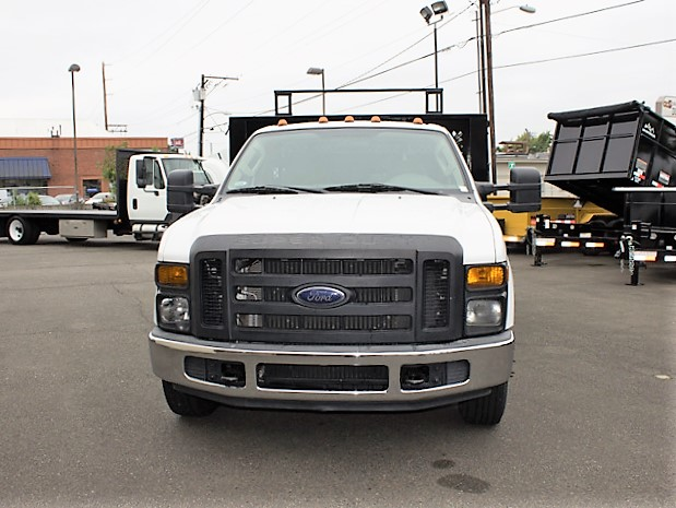6372.C. 2008 FORD F350 Super Duty 12 ft. flatbed truck from Town and Country Commercial Truck and Trailer Sales, Kent (Seattle), WA.