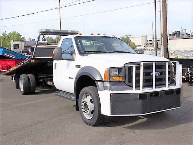 6376.B. 2006 FORD F550 19 ft. rollback with stinger truck from Town and Country Commercial Truck and Trailer Sales, Kent (Seattle), WA.