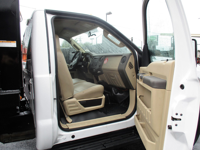 6371.Q. 2009 FORD f550 14 ft. Flatbed Dump Truck from Town and Country Truck and Trailer Sales, Kent (Seattle), WA.