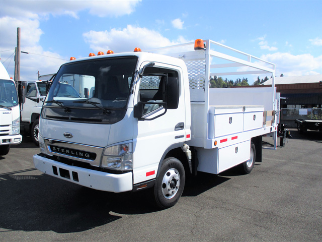 2007 Sterling Service Utility Flatbed Truck from Town and Country Truck and Trailer Sales, Kent (Seattle), WA.