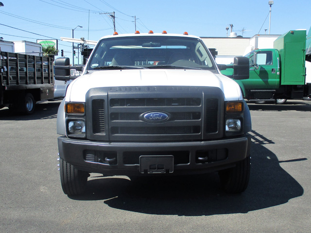 6462.E. 2008 Ford F550 12 ft. Flatbed Stakeside Truck from Town and Country Truck and Trailer Sales, Kent (Seattle), WA.
