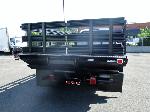 6462.H. 2008 Ford F550 12 ft. Flatbed Stakeside Truck from Town and Country Truck and Trailer Sales, Kent (Seattle), WA.