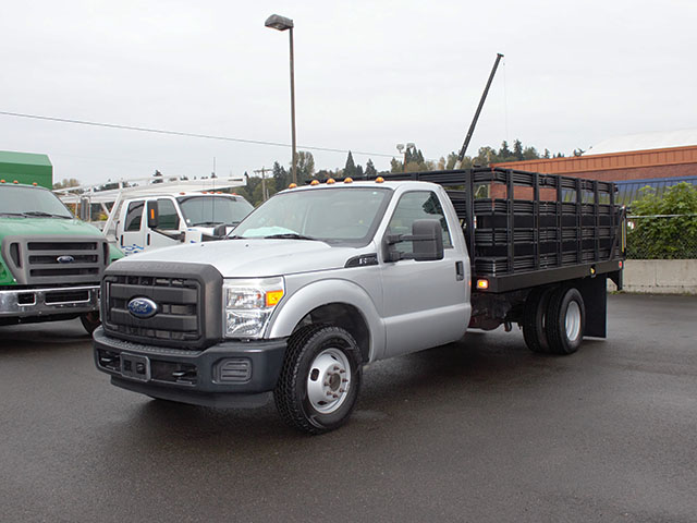 2011 Ford F350 Super Duty 12 ft. flatbed truck from Town and Country Truck and Trailer Sales, Kent (Seattle), WA.