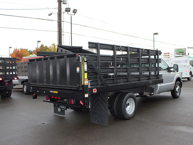 6514.G. 2011 Ford F350 Super Duty 12 ft. flatbed truck from Town and Country Truck and Trailer Sales, Kent (Seattle), WA.