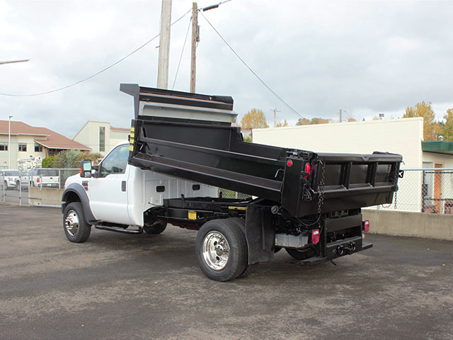 6522.E.  2008 Ford F550 Super Duty 4x4 12 ft. Dump Truck from Town and Country Truck and Trailer Sales, Kent (Seattle), WA.
