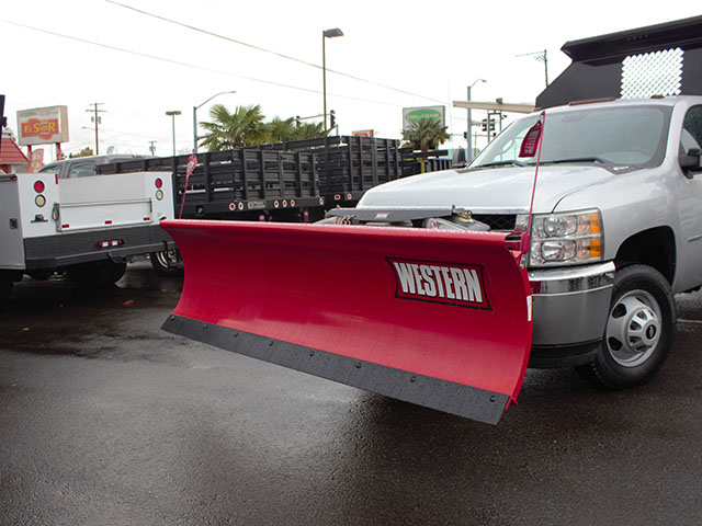 6523.B. 2012 Chevrolet Silverado 3500 HD 2-3 Yard Dump Truck with Western Snow Plow from Town and Country Truck and Trailer Sales, Kent (Seattle), WA.