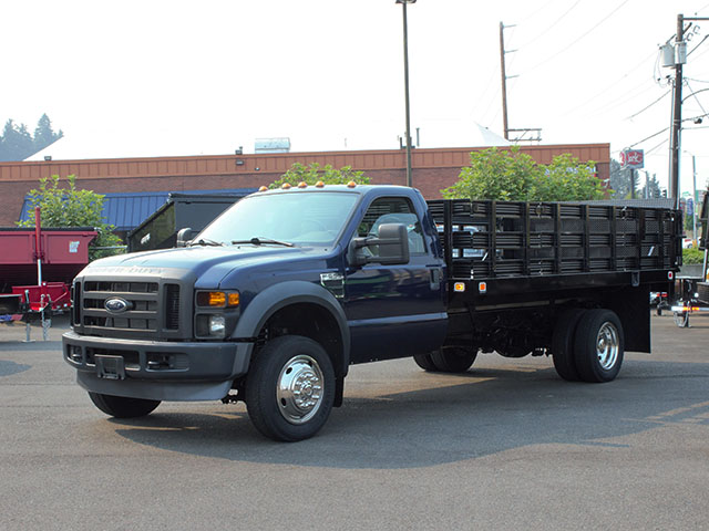 2009 FORD F550 SUPER DUTY 14 ft. flatbed truck