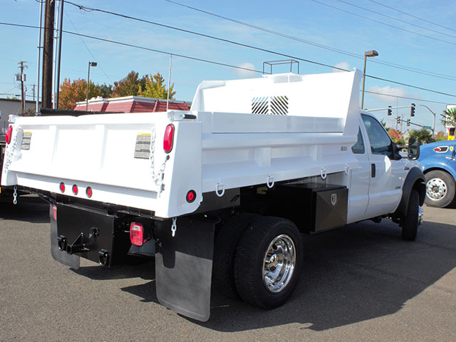 6657.F. 2012 Ford F550 4x4 Superduty four door Super Cab 2 ½ - 3 yard dump truck from Town and Country Truck and Trailer Sales, Kent (Seattle), WA.