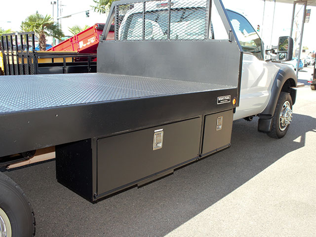 6659.K. 2012 Ford F450 4x4 Superduty 14 ft. flatbed truck from Town and Country Truck and Trailer Sales, Kent (Seattle), WA.