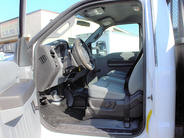 6659.P. 2012 Ford F450 4x4 Superduty 14 ft. flatbed truck from Town and Country Truck and Trailer Sales, Kent (Seattle), WA.