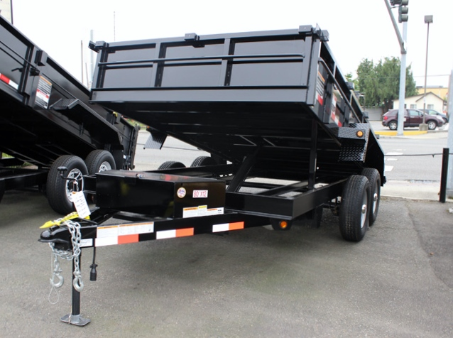 DMP12X80.B. 2015 SNAKE RIVER 12 ft. x 80 in. Dump Trailer from Town and Country Commercial Truck Sales, Kent (Seattle), WA