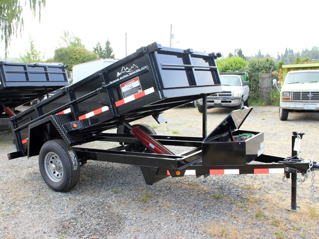 DMP5X10.B. 2015 SNAKE RIVER 5 x 10 ft. Single Axle Dump Trailer from Town and Country Commercial Truck Sales, Kent (Seattle), WA
