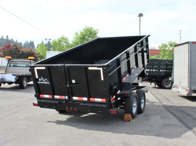 DMP14X36X14K.B. 2015 SNAKE RIVER 36 in. Tall Sided Dump Trailer from Town and Country Commercial Truck Sales, Kent (Seattle), WA